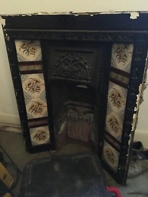 Antique Victorian Style Cast iron Fireplace With Original Tiles Collection only