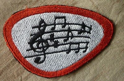 Noten Aufnäher Patch ca. 9x6cm, Rock`n`Roll 50s Rockabilly, Noten Musik