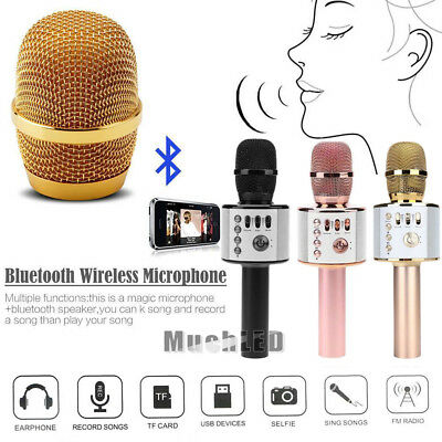 Wireless Karaoke Handheld Microphone USB KTV Player Bluetooth Mic HIFI Speaker