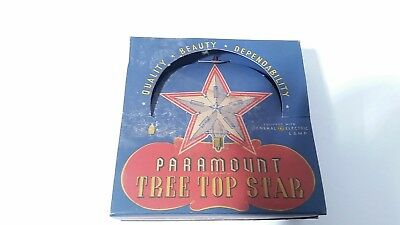 Vintage Paramount Tree Top Star in original box it lights