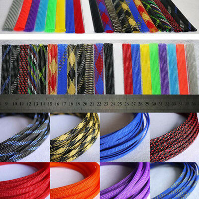 12mm Diameter Braided Expandable Cable Loom Auto Harness Wire Sleeving Sheathing