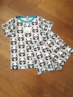 Short Sleeve and Shorts PJs from Maxomorra in Panda print - Size 98/104 (approx