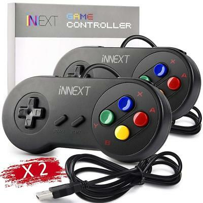 2 Pack iNNEXT SNES Retro USB Controller Gamepad Joystick, PC Super Classic...