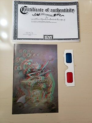 IDW Rick and Mortyvs. Dungeons and Dragons #1 3D Comic - ONLY500 printed ever!