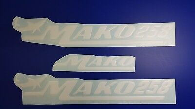 """MAKO 258 boat Emblem 22,3"""" white + FREE FAST delivery DHL express - stickers"""