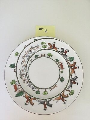 """Hunting Scene by Crown Staffordshire Dinner Plate 10 1/2"""" - #2"""