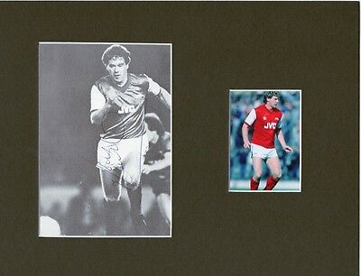 TONY WOODCOCK Signed 10x8 Picture Display ARSENAL FC Legend COA