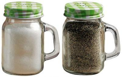 Circleware Yorkshire Mason Jar Mug Glass Salt and Pepper Shakers with...