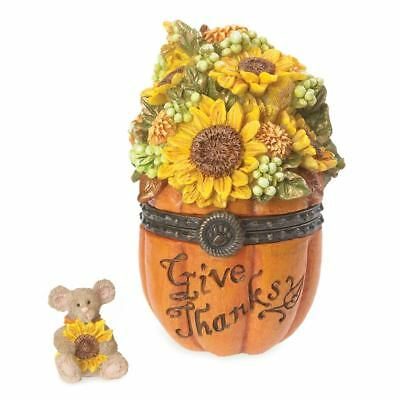 Boyds Treasure Box Collection - Hinged Box - Rowan's Autumn Blessings W /sunny