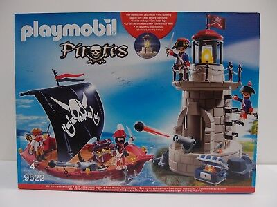 Playmobil 9522 Piratenset Soldatenturm & Piratenschiff mit Motor -Neu- OVP