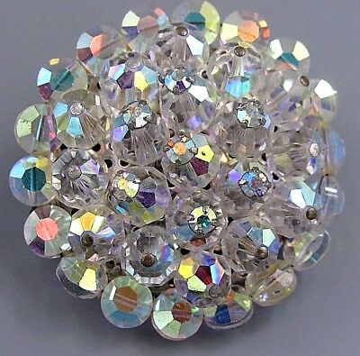 Vintage Jewelry AUSTRIA Faceted Prism Crystal BROOCH PIN Rhinestone Lot R