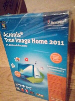 Acronis True Image Home 2011 PC Backup Recovery gebraucht Image Box mit CD und H