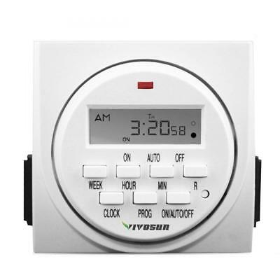 VIVOSUN 7 Day Programmable Digital Timer Switch with 2 Outlets - Accurate &...