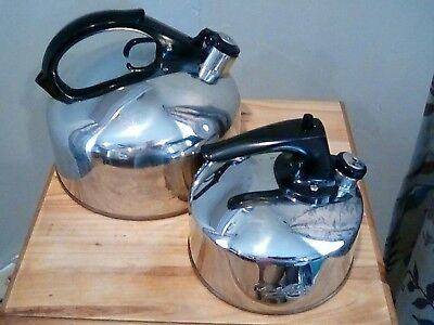 2 Vintage Tea Kettle  Revere Ware Copper Small and Large