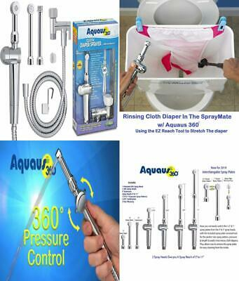 Rinseworks Aquaus 360 Patented Hand Held Bidet With Abs Polymer