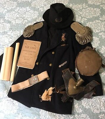 LOT of 16+ ORIGINAL Civil War Items Lt. Charles C. Paige +War of 1812 Canteen