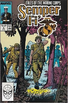 Semper Fi' Tales Of The Marine Corps #2 Marvel Comics 1989 VF