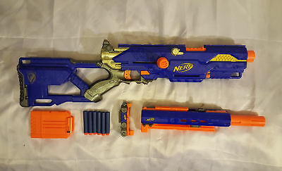 CUSTOM Modified NERF LONGSTRIKE + SCOPE! CS-6 ELITE SNIPER BLASTER LONG SHOT COD