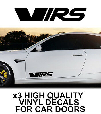 3x SKODA VRS LOGO CAR DOOR VINYL DECALS STICKERS ADHESIVE