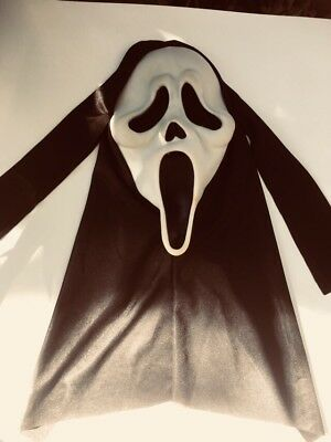 Vintage 90s Halloween Scream Ghost Face Mask Easter Unlimited Fun World Div