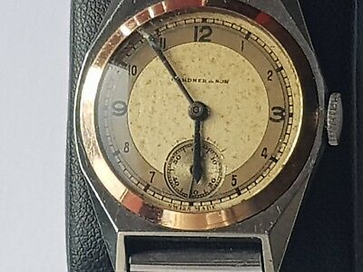 Gardner & Son Vintage Swiss Made Watch For The Collector Working
