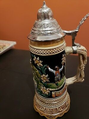 German beer stein lidded