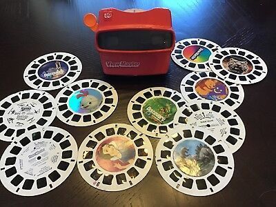 Viewmaster  Viewer With Lot Of 12 Reels- All In Good Cond
