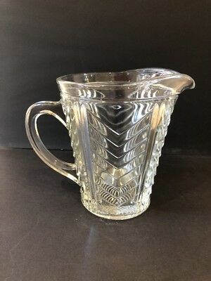 *VINTAGE* Glass Jug Pitcher water cocktail pims mixer large 14cm clear GUC
