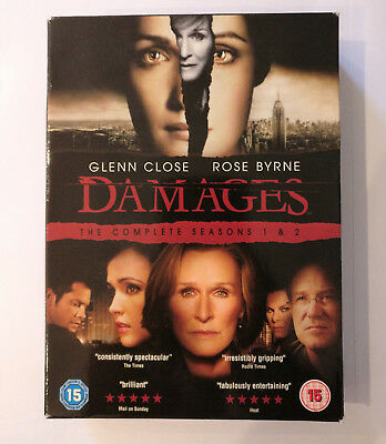 Damages - Series 1-2 - Complete (DVD, 2009, 6-Disc Set, Box-set)