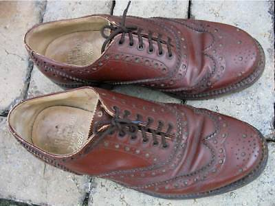Vintage Julius Marlow Brown Leather Brogues Men's Shoes, 5 1/2EE approx Size 6