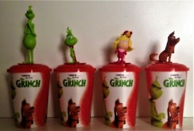 Dr. Seuss' The Grinch 2018 Movie Theater Exclusive Cup Topper Set With 12 oz Cup