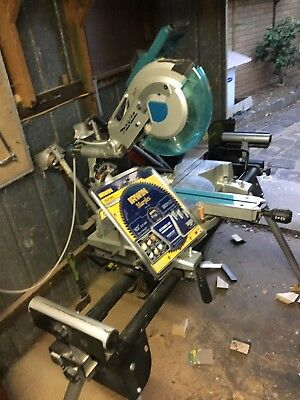 Makita LS1016 Mitre Drop Saw with Stand and New Irwin Blade