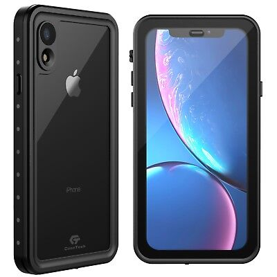 For Apple iPhone XR Life Waterproof Shockproof Case w/ Built-in Screen Protector