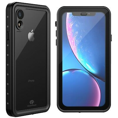 For Apple iPhone XR Waterproof Case Shockproof Cover w Built-in Screen Protector