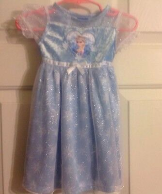Disney Frozen Elsa Baby Costume Nightgown Dress Up Size 12 Months