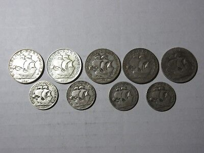 Portugal - Lot Of 9 Silver Coins - Circulated