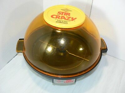 West Bend 6qt STIR CRAZY Automatic Popcorn Popper Model 5346 Works Vintage NICE!