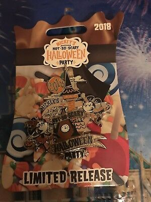 Disney 2018 Mickey's Not So Scary Halloween Party Limited Release Pin Free S&H