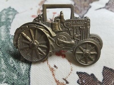 Brass Case Tractor Hat Pin Steel Wheel Larger Size Watch Fob Look