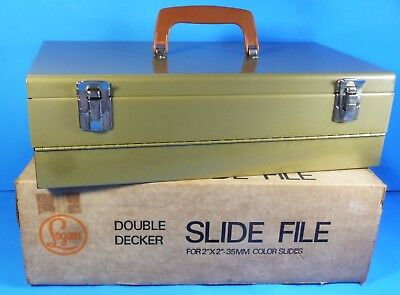 "Logan 1500G Double Decker Metal Slide File Holds 1500 2"" x 2"" 35mm Slides"