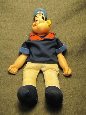 """Vintage RARE KING FEATURES SY INC POPEYE DOLL 16-1/2"""""""