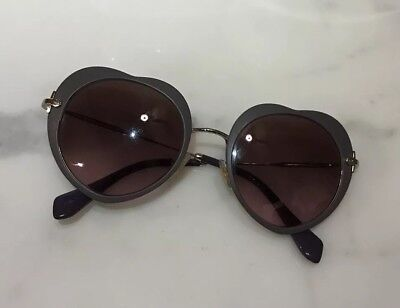 172f720551f51 MIU MIU SMU 54R Sunglasses Black Gold White 1AB-4K0 Authentic 52mm ...