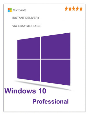 Microsoft Windows 10 Pro 32 Bit/ 64 Bit Win 10  Genuine License Original