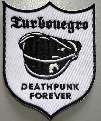 TURBONEGRO Deathpunk b/w embroided patch Turbojugend Motorhead Hellacopter