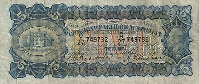 1932 5 POUND - RIDDLE / SHEEHAN IN VERY FINE Condition. Scarce Note