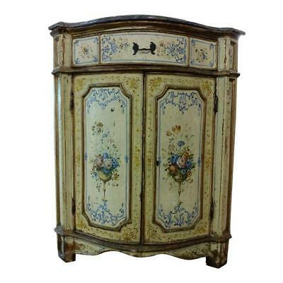 18th century Beautiful Venetian Corner Cabinet w/Marble top