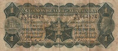 1932 1 POUND - RIDDLE / SHEEHAN K/83 964374 In Fine Condition.