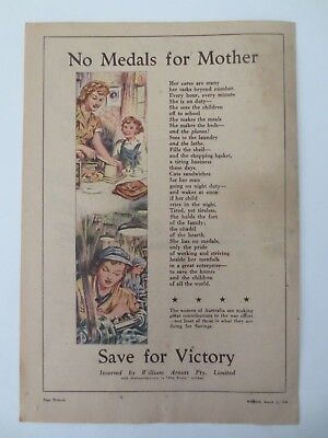 Vintage Australian advertising 1944 ad WILLIAM ARNOTT arnott's woman tribute art