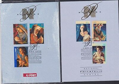 Australia 2006 & 1996 CHRISTMAS SOUVENIR CARDS both cancelled first day of issue