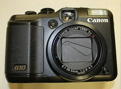 Canon Powershot G10 14.7MP Black Digital Camera BODY ONLY, NO BATTERY/CHARGER